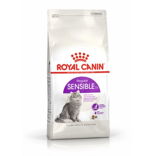 """Sensible 33 - Корм для взрослых кошек с чувствительным пищеварением """"Роял Канин ФХН7 Сенсибл"""""""