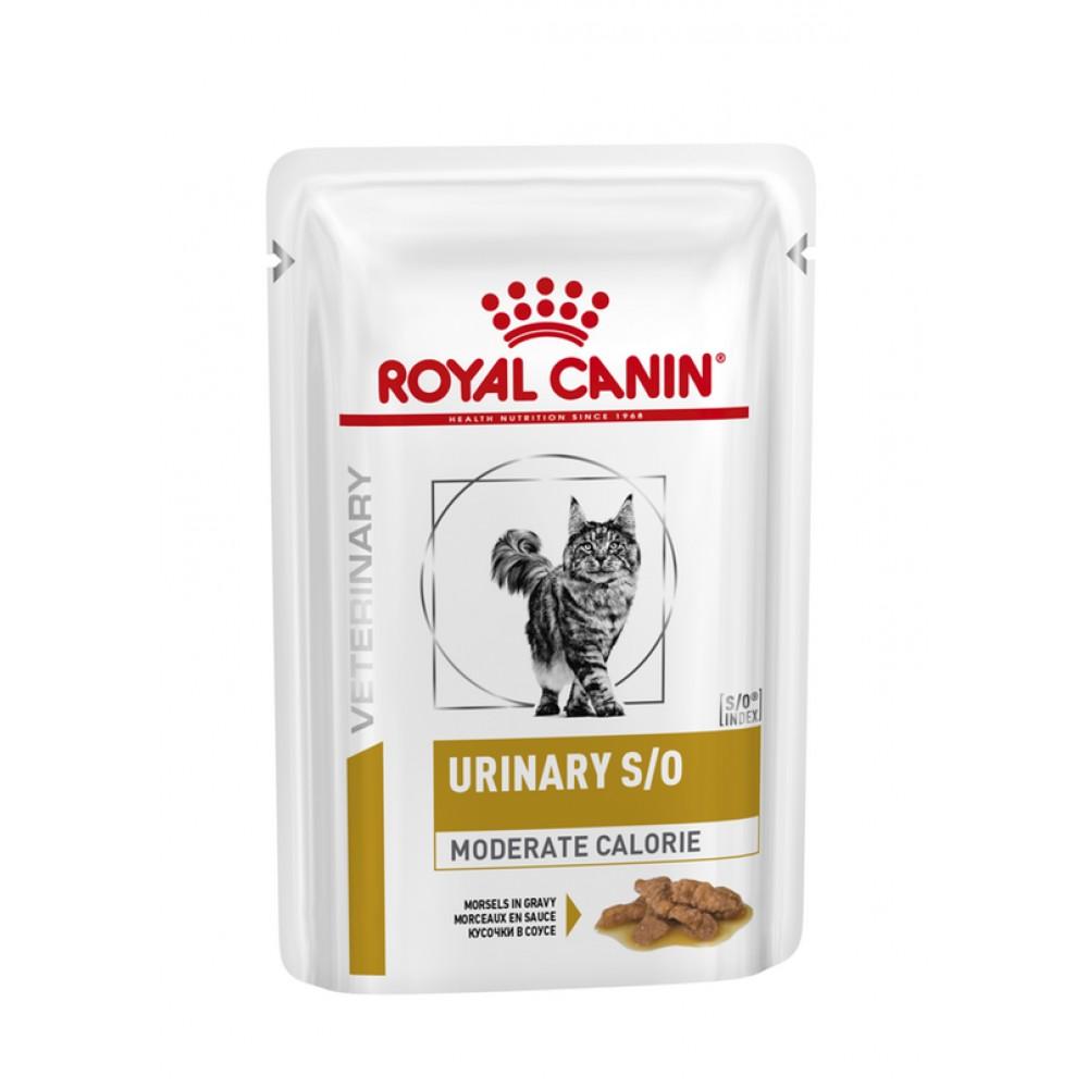 """Royal Canin Urinary S/O Moderate Calorie - Диетический влажный корм для кошек, способствующий растворению струвитов """"Роял Канин УринариС/О Мод. Кэлори"""""""