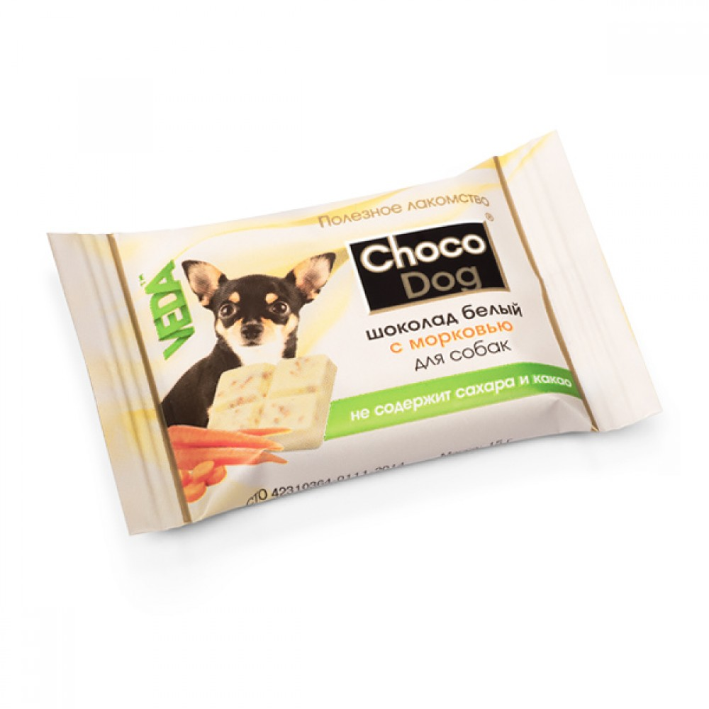 """VEDA """"CHOCO DOG шоколад белый с морковью» - Лакомство для собак"""
