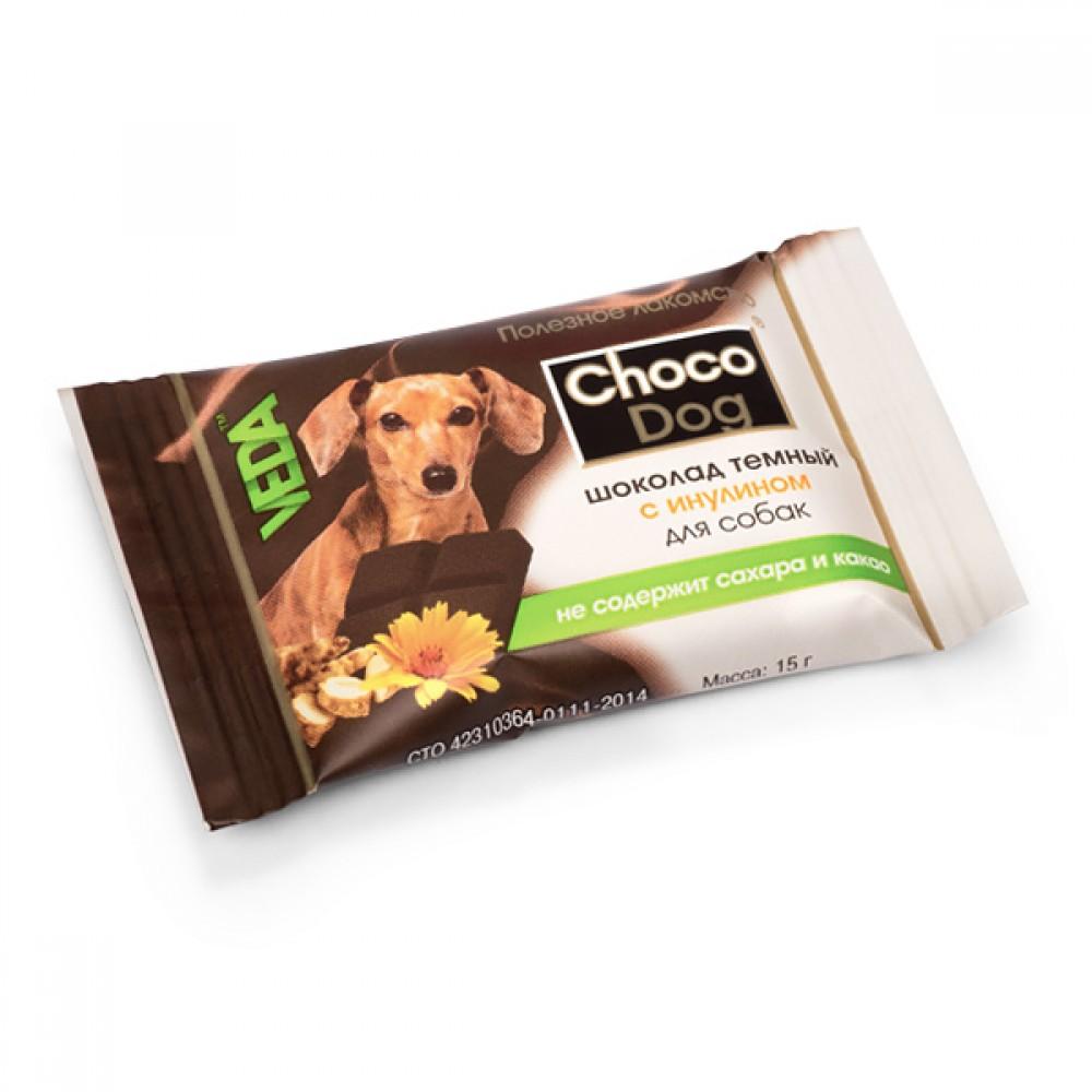 """VEDA """"CHOCO DOG шоколад темный с инулином» - Лакомство для собак"""