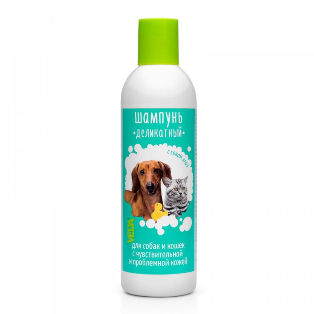 VEDA Деликатный шампунь для собак и кошек с проблемной кожей