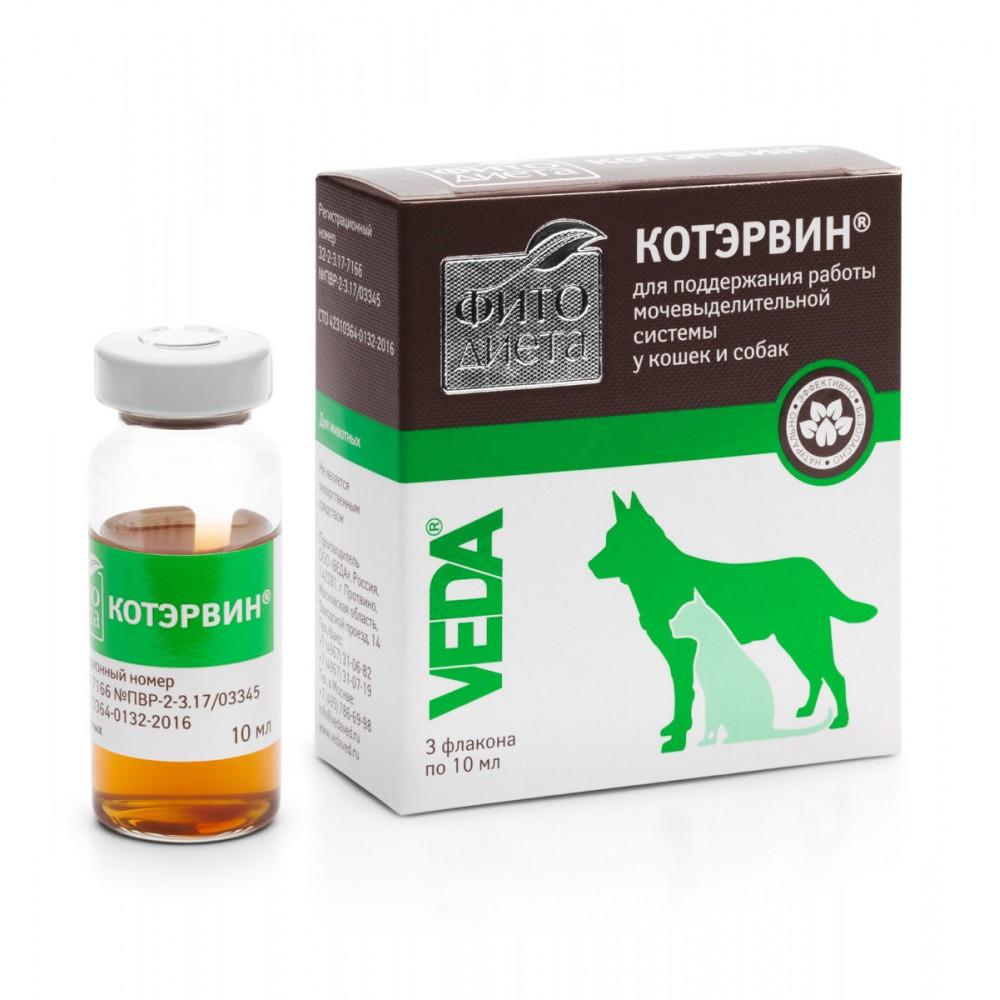 VEDA ФИТОДИЕТА КОТЭРВИН® - Кормовая добавка для профилактики мочекаменной болезни у кошек и собак