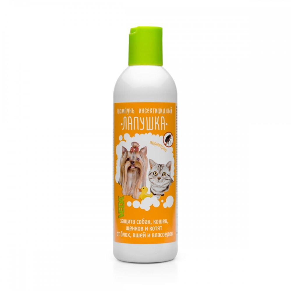 VEDA Лапушка шампунь инсектицидный для кошек и собак