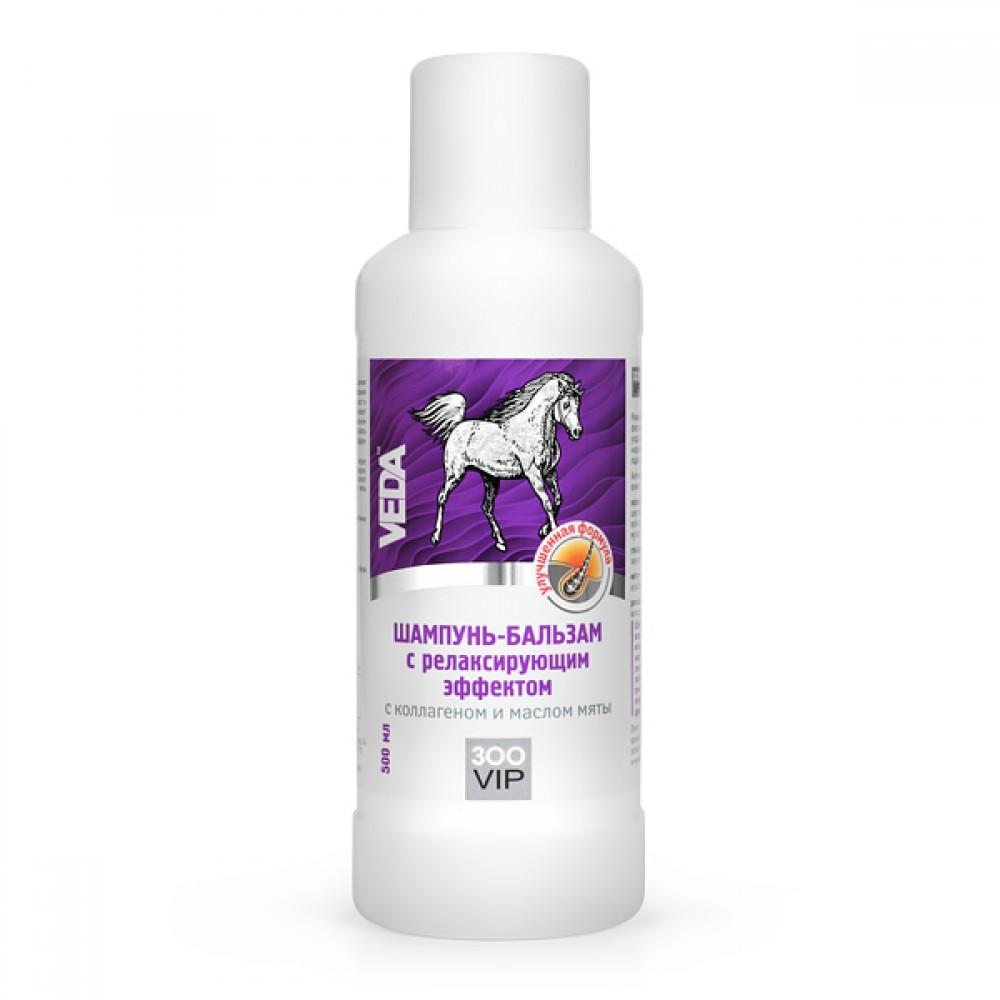 VEDA Шампунь-бальзам с релаксирующим эффектом с коллагеном и маслом мяты