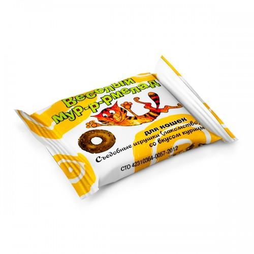 «ВЕСЕЛЫЙ МУР-Р-РМЕЛАД» - Съедобные игрушки (лакомство) для кошек со вкусом курицы