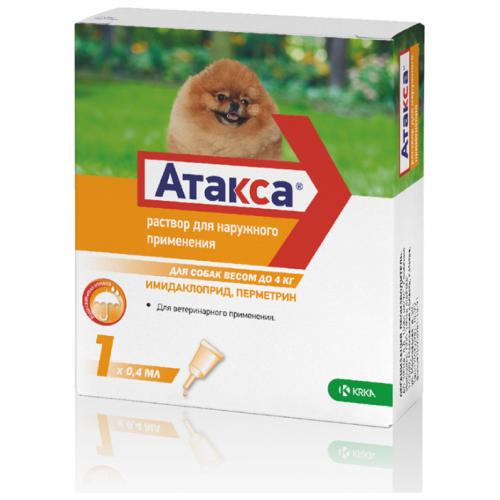 Атакса - Раствор для наружного применения №1 для собак