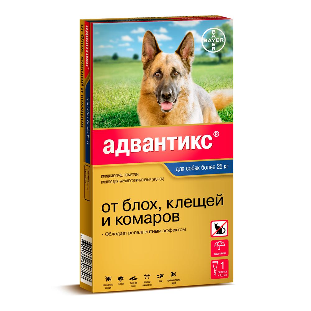 Bayer Advantix Адвантикс для собак, 1 пипетка
