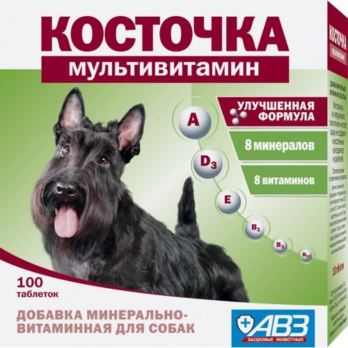 Косточка Мультивитамин - Добавка минерально-витаминная для собак
