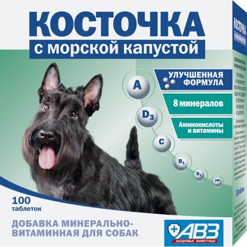 Косточка с морской капустой - Добавка минерально-витаминная для собак