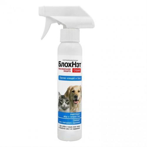 БлохНэт - Инсектокарицидный спрей для кошек и собак