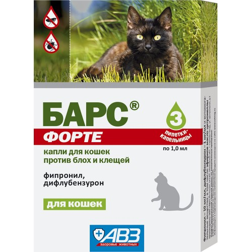 БАРС ФОРТЕ - Капли инсектокарицидные для кошек