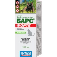 БАРС ФОРТЕ - Спрей инсектоакарицидный для кошек