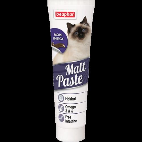 Беафар - Мальт-паста для кошек для вывода шерсти из ЖКТ