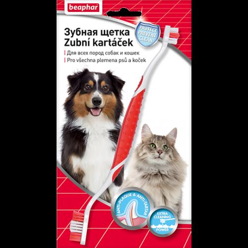Беафар - Зубная щетка двойная для собак на блистере