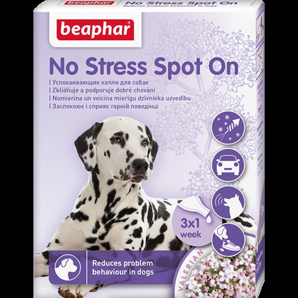 """Beaphar """"No Stress Spot On"""" Беафар - Успокаивающие капли для кошек и собак, 3 пипетки"""