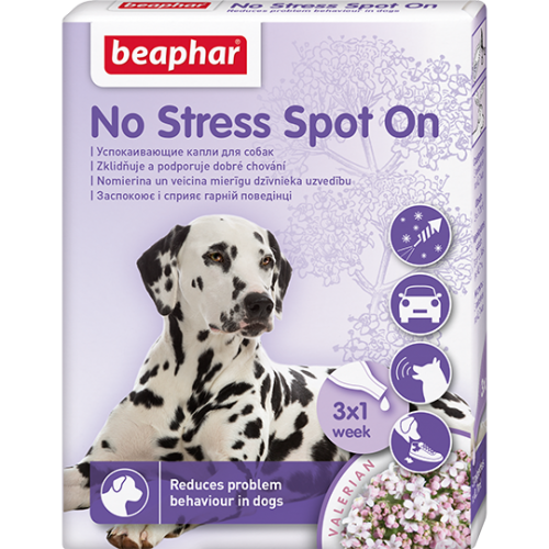 """No Stress Spot On"" Беафар - Успокаивающие капли для кошек и собак, 3 пипетки"