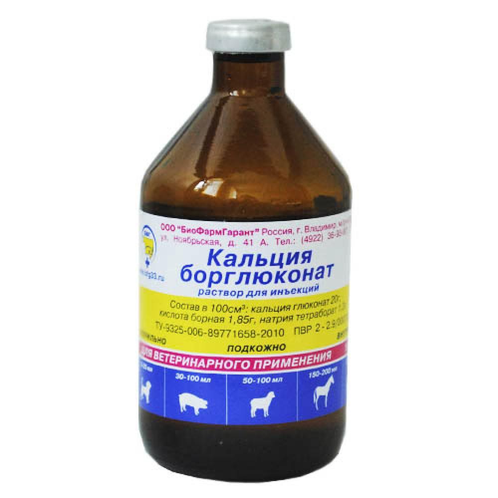 БиоФармГарант Борглюконат кальция - Раствор для инъекций (100 мл)