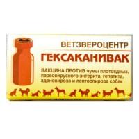Гексаканивак - Вакцина против инфекционного гепатита, аденовироза, парвовирусного энтерита и лептоспироза собак