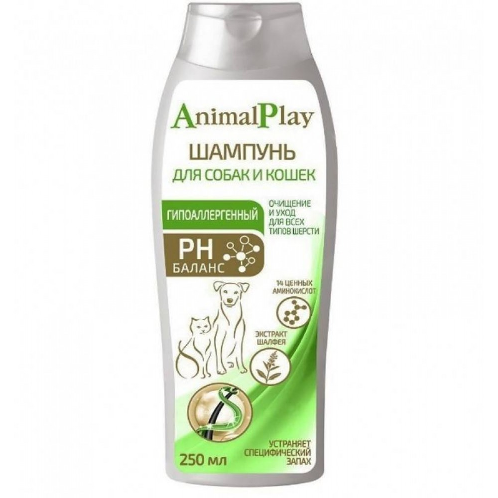 Биофольмэль Animal Play (Энимал Плэй) - Гипоаллергенный шампунь с аминокислотами и экстрактом шалфея для собак и кошек