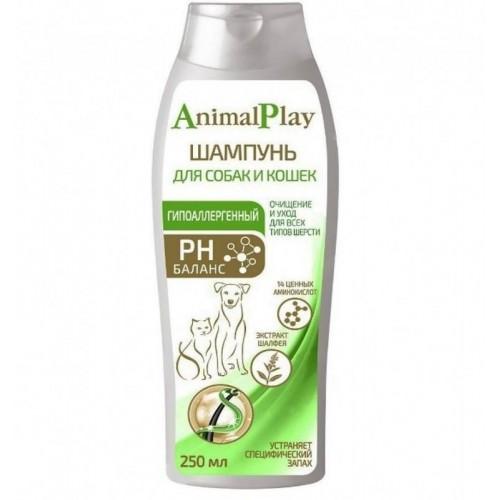 Animal Play (Энимал Плэй) - Гипоаллергенный шампунь с аминокислотами и экстрактом шалфея для собак и кошек