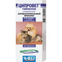 Ципровет - Таблетки для кошек, щенков и собак мелких пород