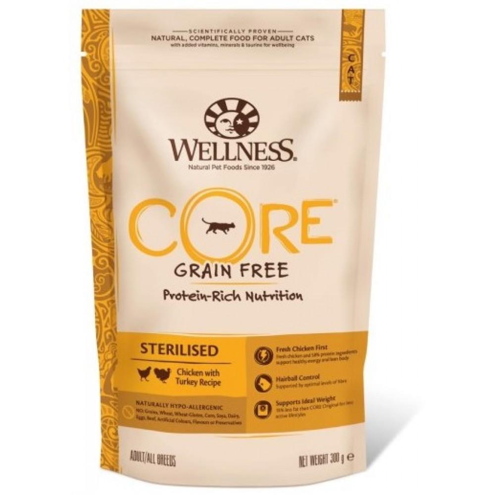 Wellness Core Корм из курицы с индейкой для стерилизованных кошек и кастрированных котов