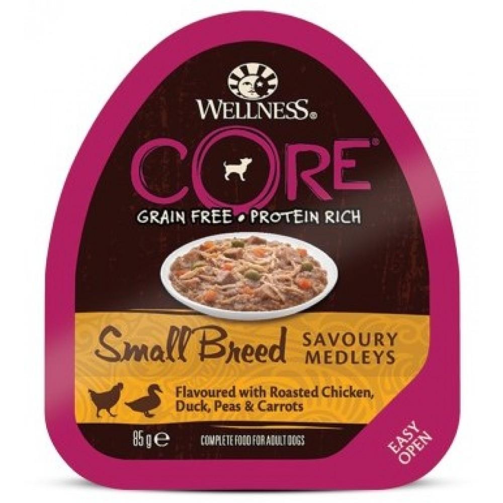 Wellness Core Small Breed - Консервы из курицы с уткой, горошком и морковью для собак мелких пород