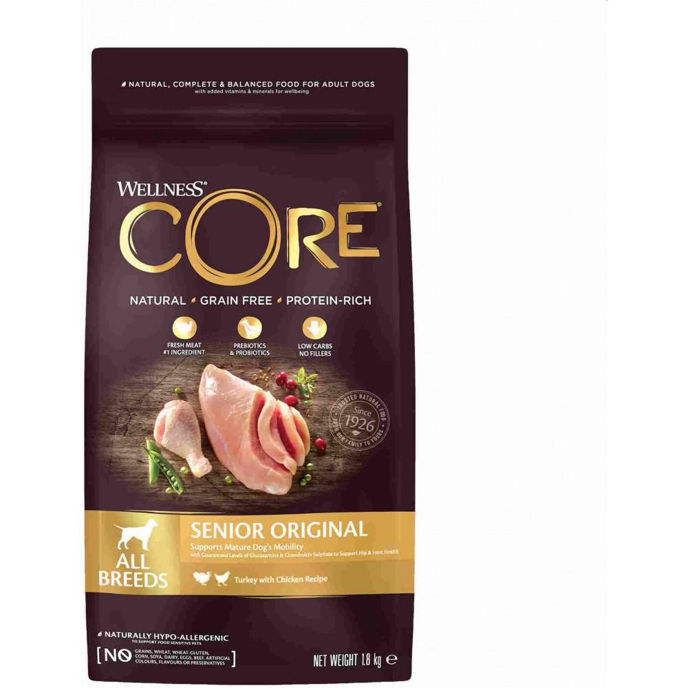 Wellness Core Корм из индейки с курицей для пожилых собак всех пород