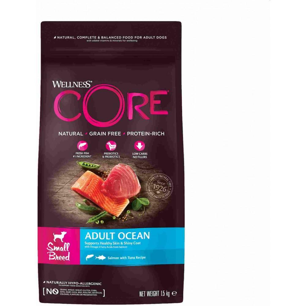 Wellness Core Корм из лосося с тунцом для взрослых собак мелких пород