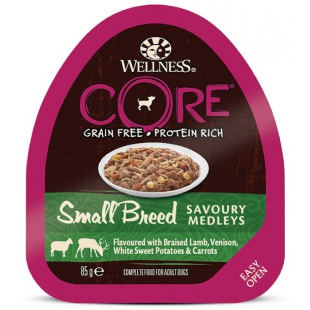 Wellness Core Small Breed - Консервы из баранины с олениной, белым сладким картофелем и морковью для собак мелких пород
