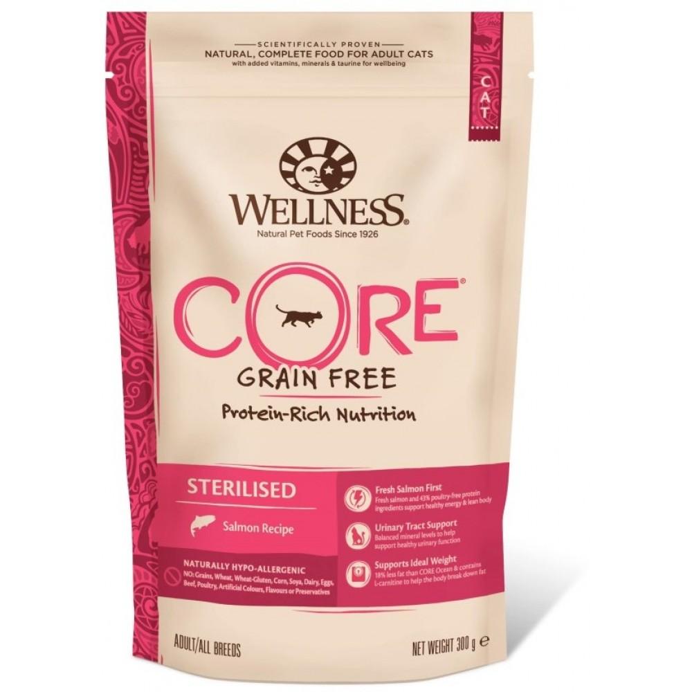 Wellness Core Корм из лосося для стерилизованных кошек и кастрированных котов