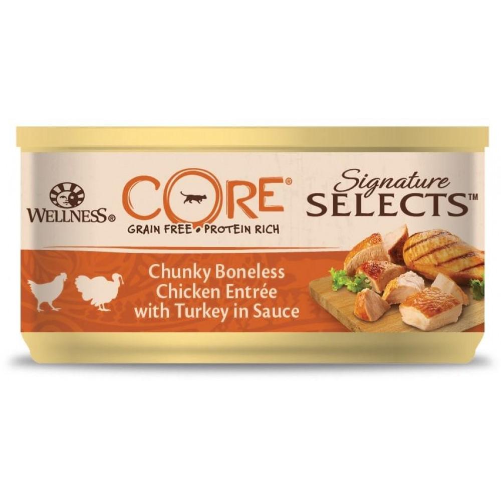 Wellness Core Signature Selects - Консервы из курицы с индейкой в виде фарша в соусе для кошек