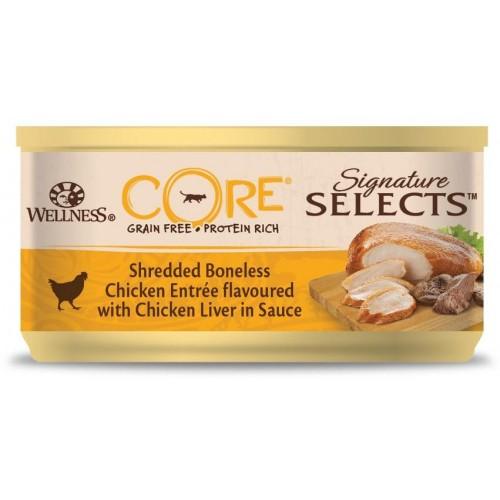 Signature Selects - Консервы из курицы с куриной печенью в виде фарша в соусе для кошек
