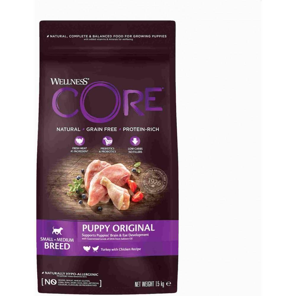Wellness Core Корм из индейки с курицей для щенков мелких и средних пород