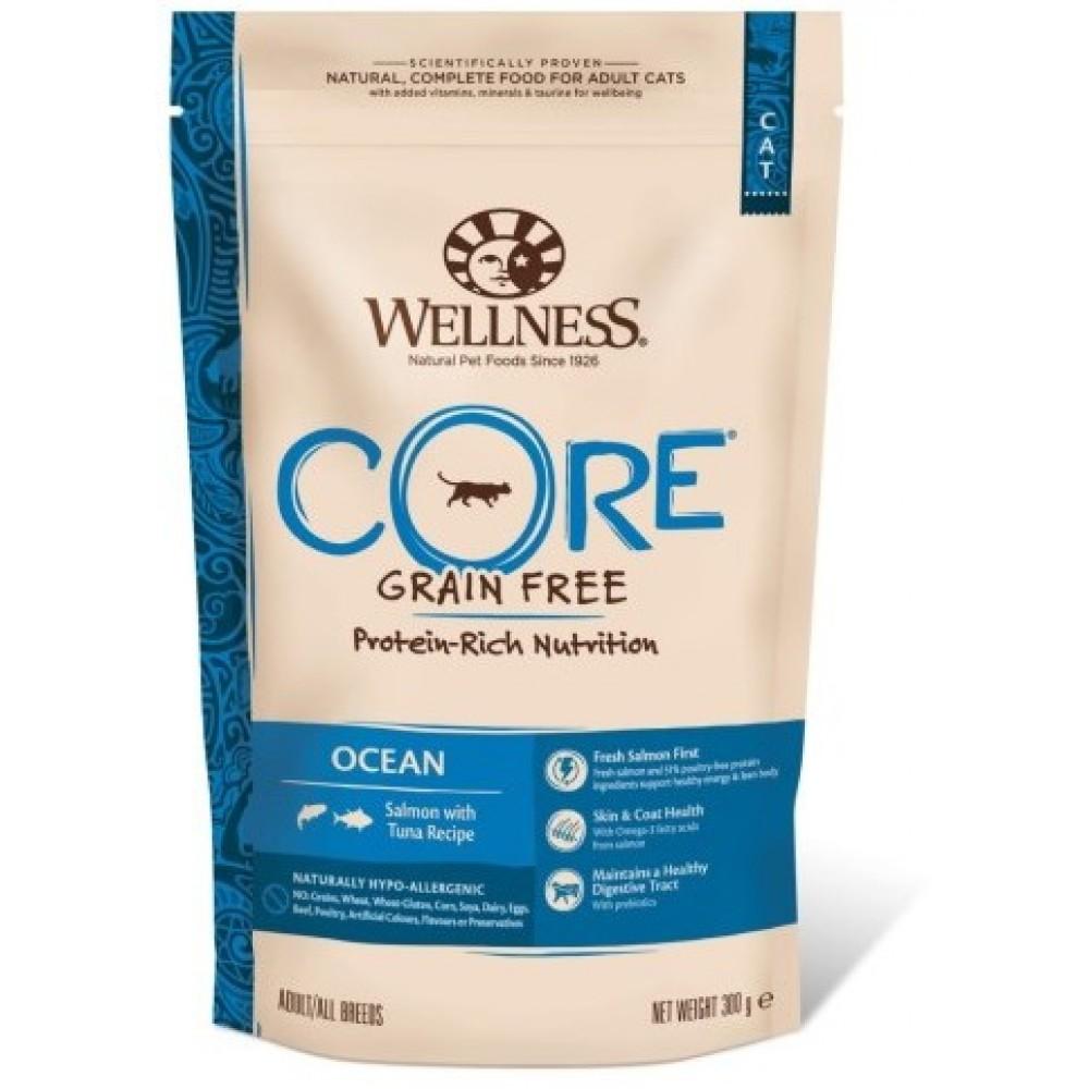 Wellness Core Корм из лосося с тунцом для взрослых кошек