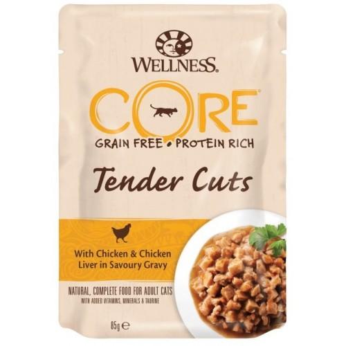 Tender Cuts - Паучи из курицы с куриной печенью в виде нарезки в соусе для кошек