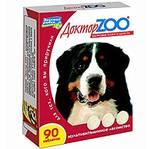 Доктор ZOO ЗДОРОВЬЕ КОЖИ И ШЕРСТИ для собак, 90 таб. Мультивитаминное лакомство для собак